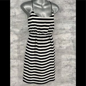 J. Crew Factory Womens 4 Black & White Striped